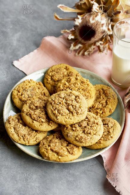 Plate of Crumb Cake Cookies