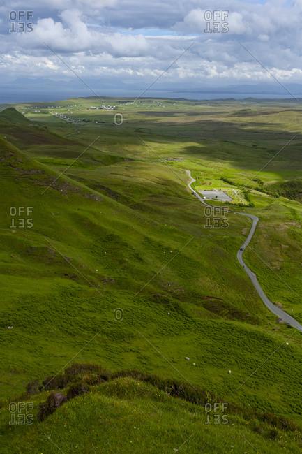 Road, Clouds in Quiraing Isle of Skye Scotland