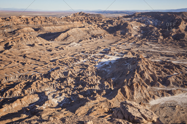 Valle de Luna rocks and environment
