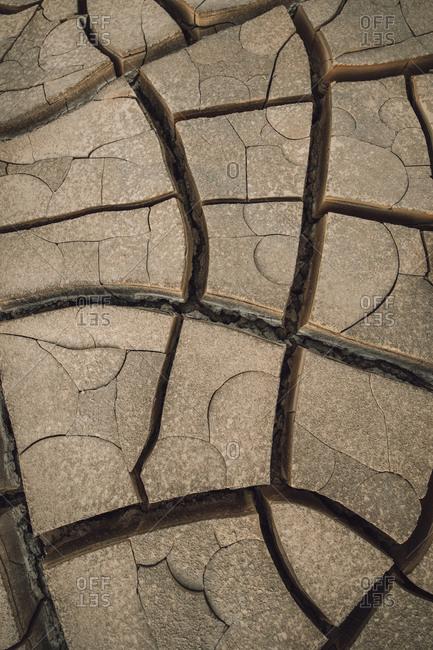 Erosion cracks in Atacama desert