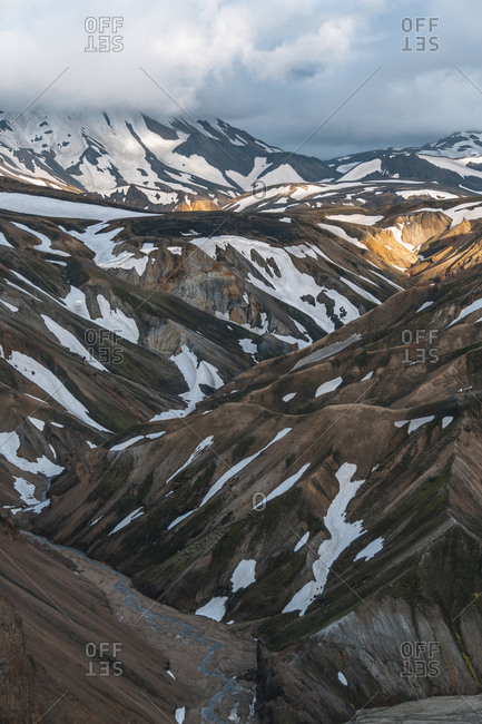 Textures of Landmannalaugar in the Highlands of Iceland