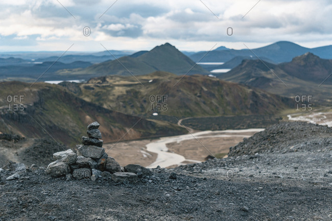 Cairn on the Laugavegur trail