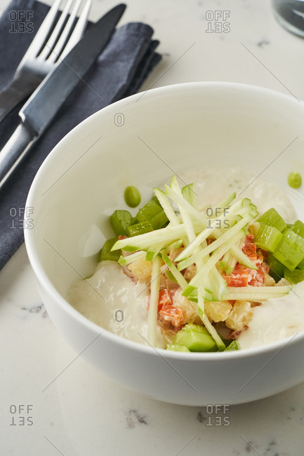 Gourmet salad in a bowl