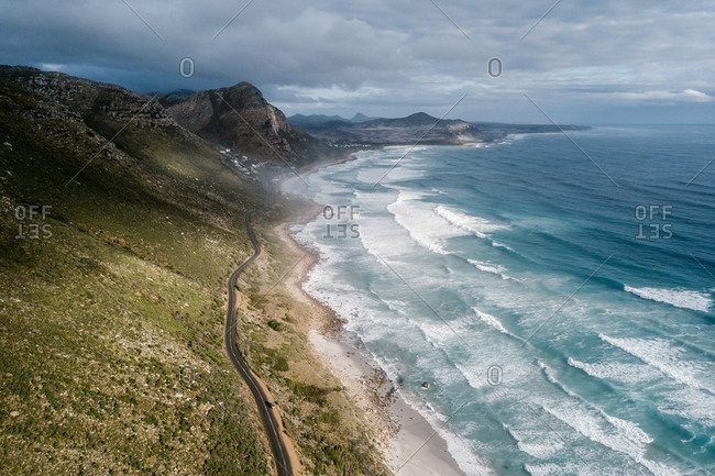Aerial view of Misty Cliffs, Cape Town, South Africa.