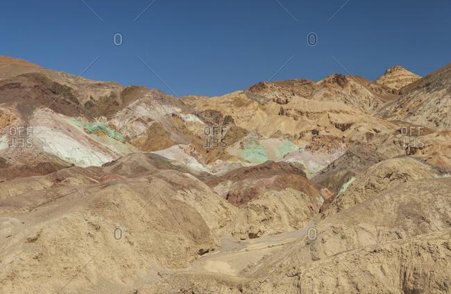 Desert hills under blue sky