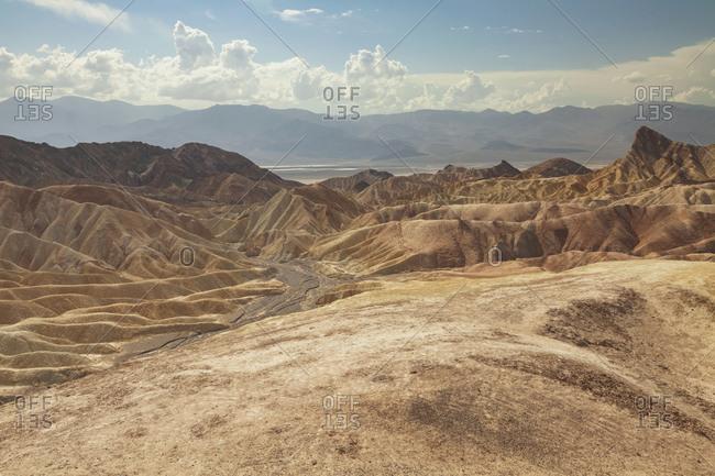 Desert mountain landscape on a sunny day