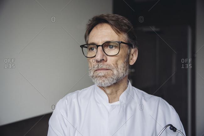 Portrait of a worried doctor