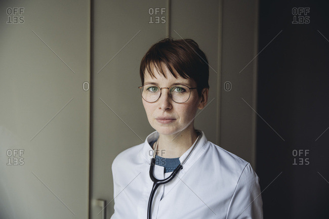 Portrait of female doctor with stethoscope