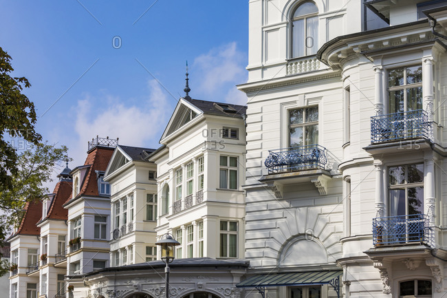 Germany- Mecklenburg-Western Pomerania- Heringsdorf- Wilhelminian style villas- hotels and apartments