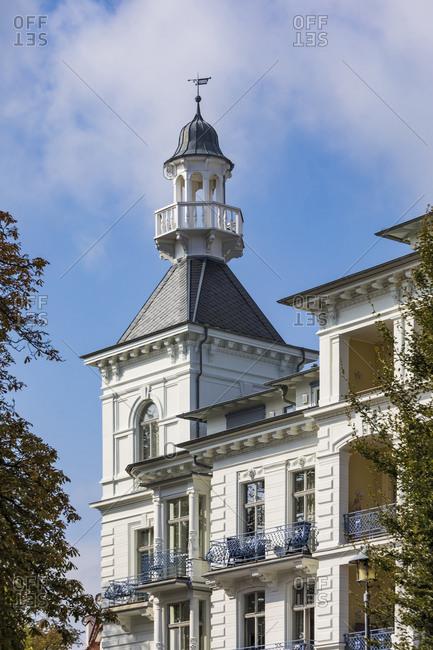 Germany- Mecklenburg-Western Pomerania- Heringsdorf- Wilhelminian exterior of See Schloss Heringsdorf hotel