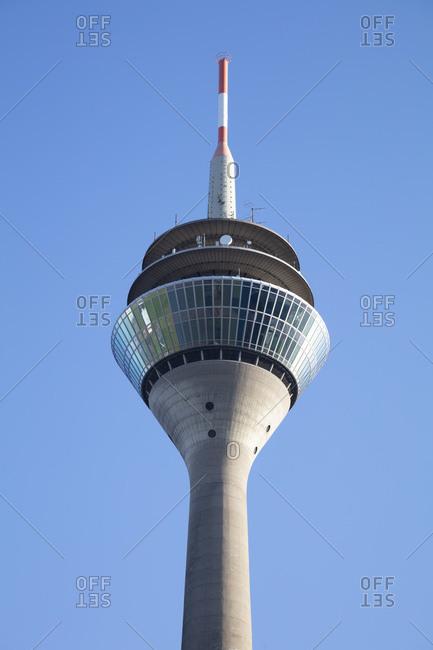 Rheinturm tower standing against clear sky