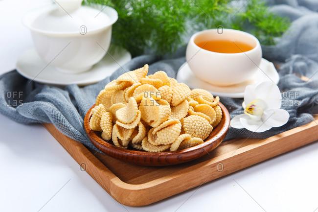 Traditional snack millet pancake