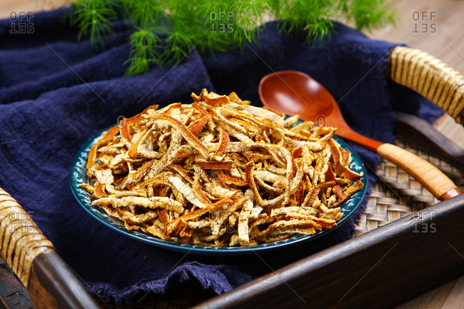 Chinese herbal medicine dried tangerine or orange peel