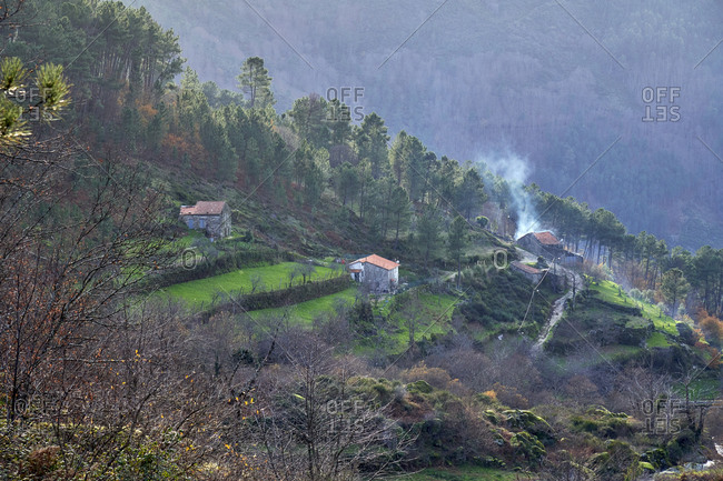 Buildings in the Serra da Estrela Mountains, Portugal