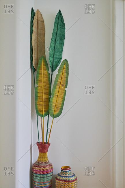 Artificial leaf decoration detail, Lisbon, Portugal