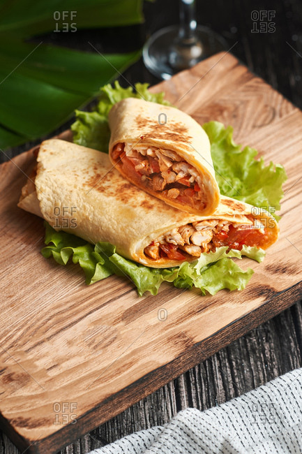 big buritos shawarma with orange juice home delivery lunch