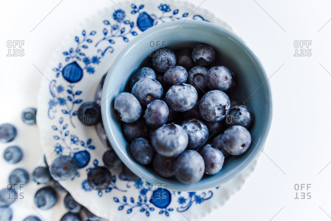 Food Image in Classic Blue