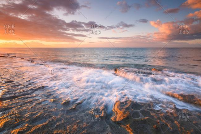 Morning seascape taken on St. Andrew beach near Ierapetre, Crete.