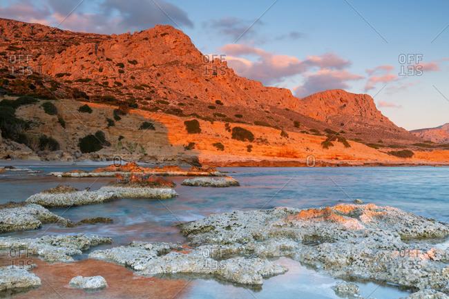 Coastal landscape near Goudouras village in southern Crete.