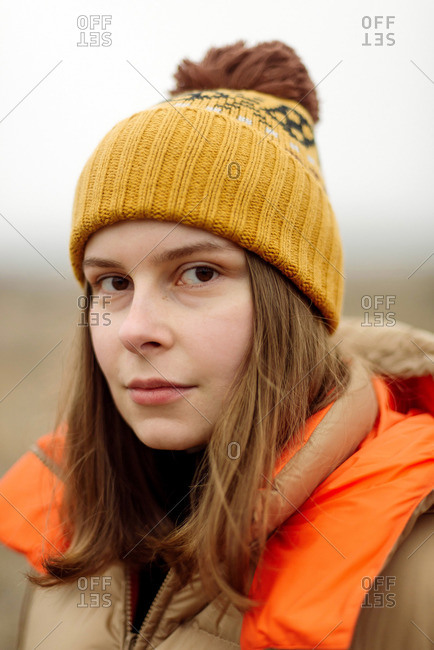 Portrait of young woman  outdoors