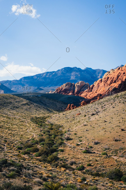 Scenic view of Red Rocks State Park, Nevada, North America