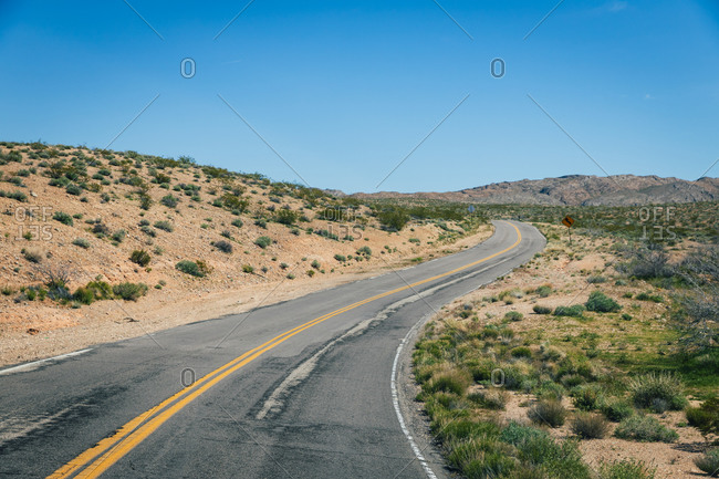 Road Winding Through Desert Landscape