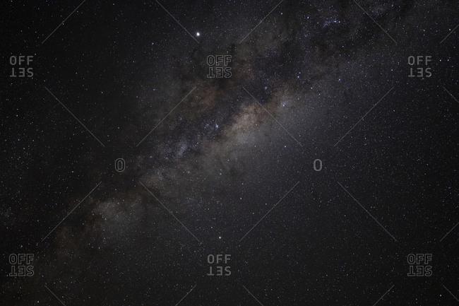 Milky way over Uyuni salar