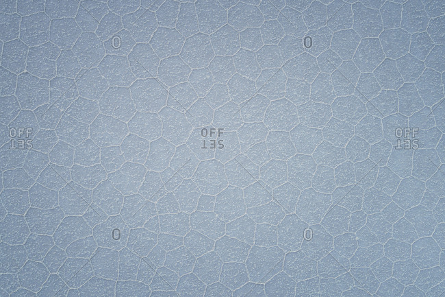 irregular poligonal estructures from aerial view in Uyuni salar