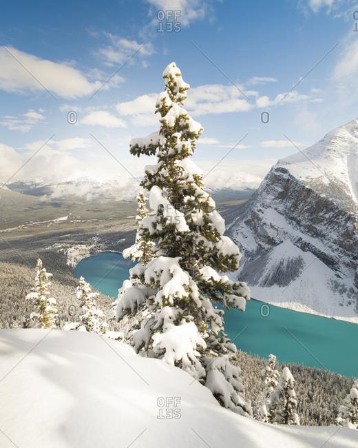 Snowy Lake Louise, Banff, Albert, Canada