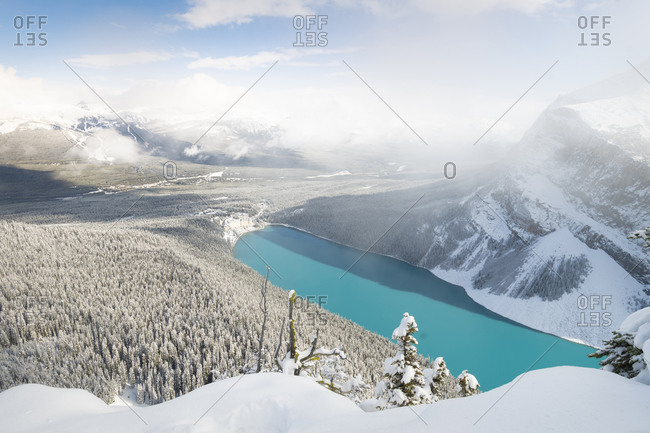 Snowy Lake Louise, Banff, Alberta, Canada