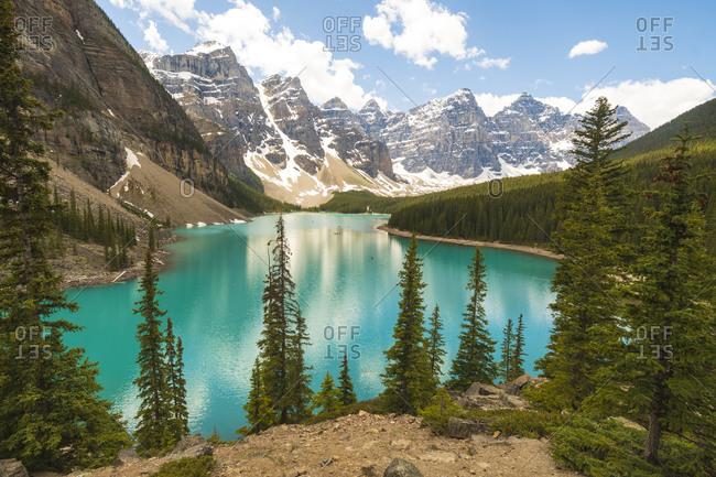 Ten Peaks reflected in Moraine Lake, Banff
