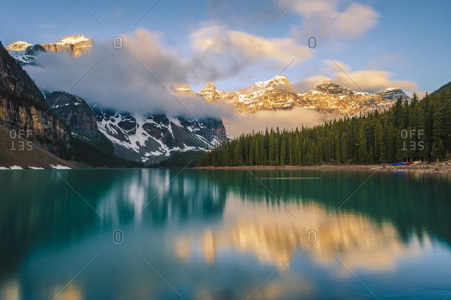 Ten Peaks reflected in Moraine Lake, Banff AB
