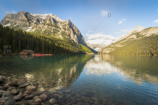 Lake Louise Reflection Banff Alberta Canada