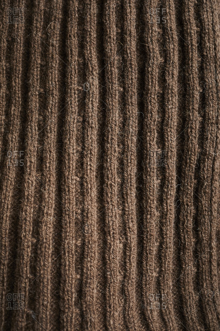 Close up of brown wool mittens