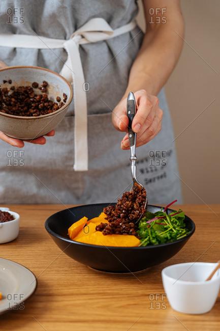 Process of healthy dish preparation