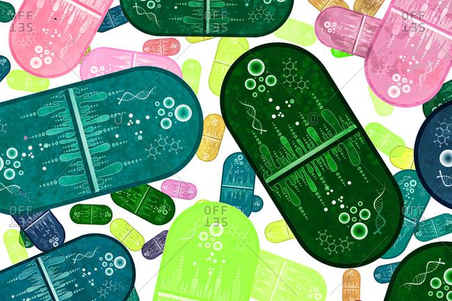 Nanomedicine, conceptual illustration. - Offset Collection