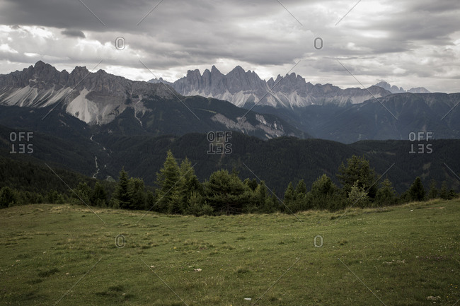 A view of The Dolomites near to the ski resort of Plose, South Tyrol, Italy.