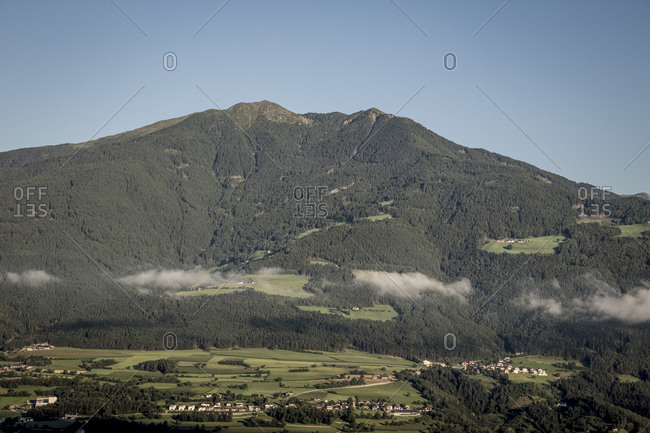 A view of the hills overlooking the town of Bressanone in the South Tyrol region of Italy.