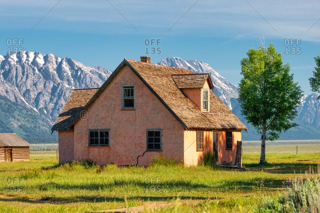 House on Mormon Row in Teton County, Wyoming