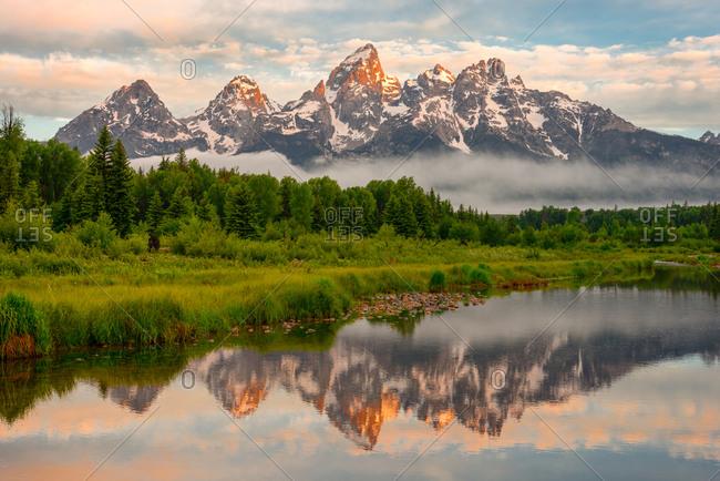 Grand Teton mountains and the Snake River