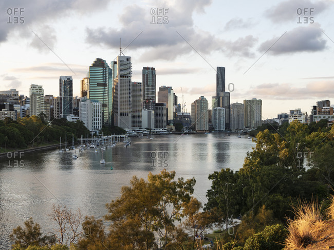 March 30, 2020: Brisbane city in the evening