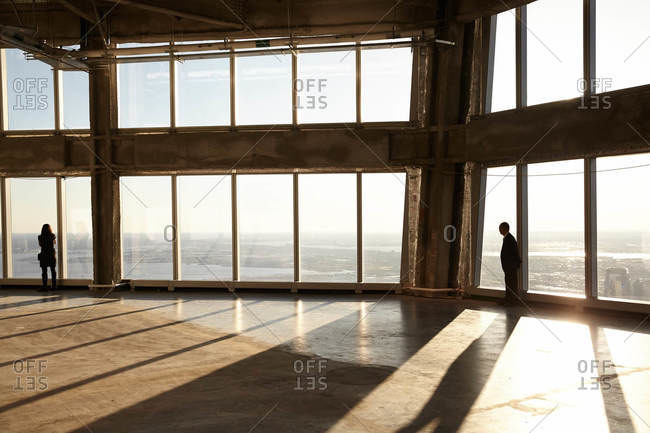 New York City, New York - March 29, 2017: Observatory at the One World Trade Center