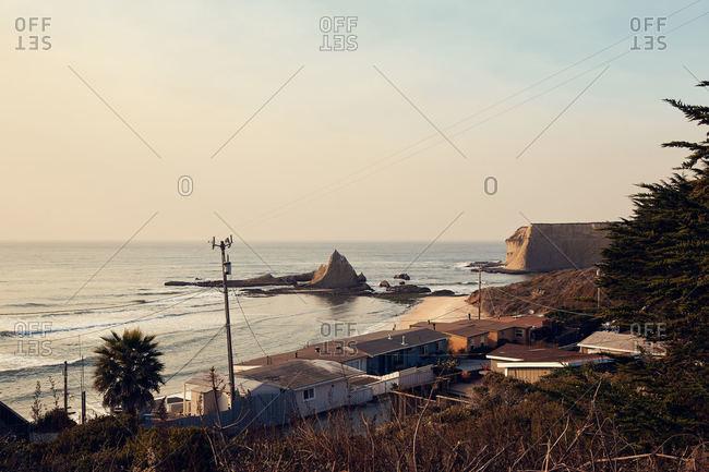 View along the coast of San Mateo county coast
