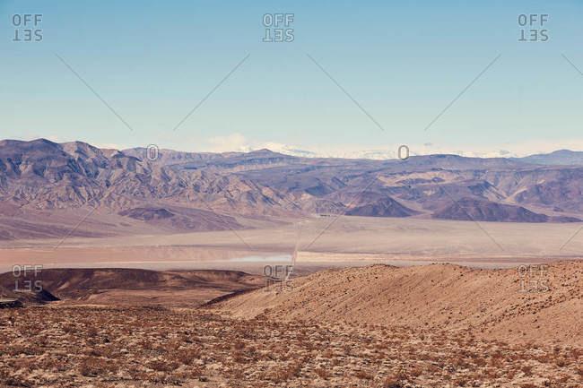 Death Valley landscape in California