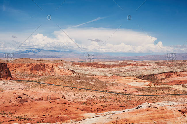 View over Valley of Fire State Park, Nevada