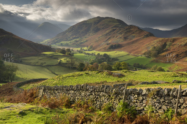 Beautiful lakeland countryside in Martindale, Lake District National Park, UNESCO World Heritage Site, Cumbria, England, United Kingdom, Europe