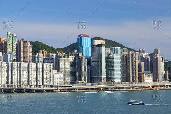 August 5, 2019: Skyline of North Point, Hong Kong, China, Asia
