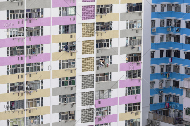 August 13, 2019: Public housing apartments, Shek Kip Mei, Kowloon, Hong Kong, China, Asia