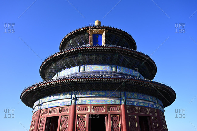June 10, 2018: The Hall of Prayer for Good Harvests, in the Temple of Heaven complex, UNESCO World Heritage Site, Beijing, China, Asia