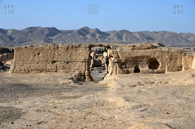 Ruins of Jiaohe Silk Road city, Xinjiang Uyghur Autonomous Region, China, Asia